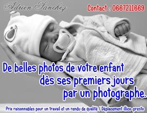 Flyer Photographie Naissance Adrien SANCHEZ