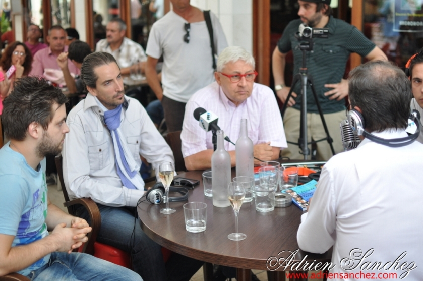 Gérard Baud, au centre de ce cliché, lors de l'émission Jeunes Talents TV où Adrien SANCHEZ INFANTE réalisait les Coulisses de l'émission. Photo : Adrien SANCHEZ INFANTE